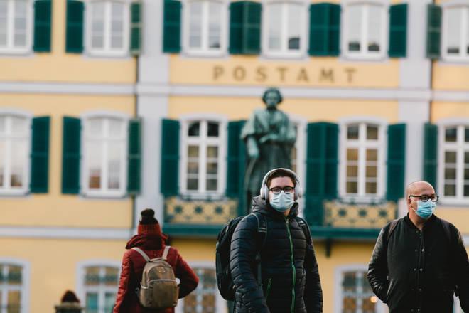 Monument of Ludwig van Beethoven in Bonn, Germany, in 2020