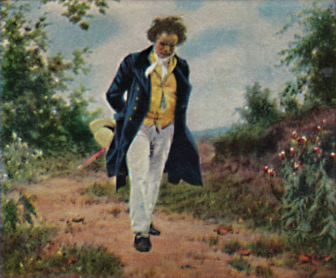 Beethoven walking in the countryside, by Gemalde Von Schmid