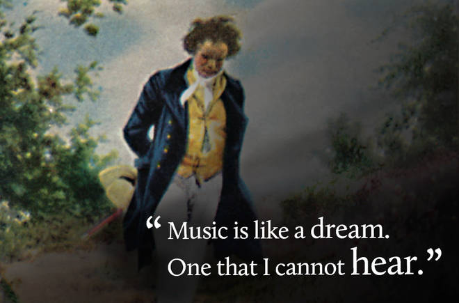 Music is like a dream. One that I cannot hear.
