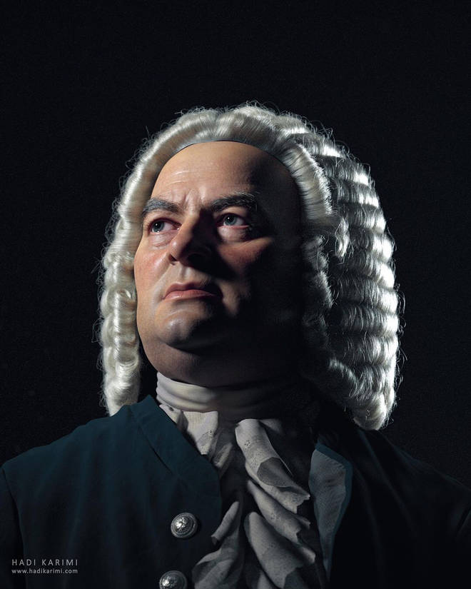 Artist Hadi Karimi has created a lifelike portrait of Bach