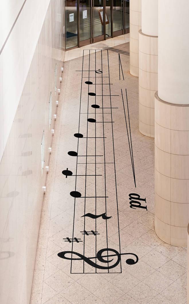 Designer creates floor piano for social distancing