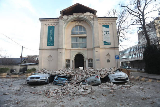 Croatia music school suffers heavy damage