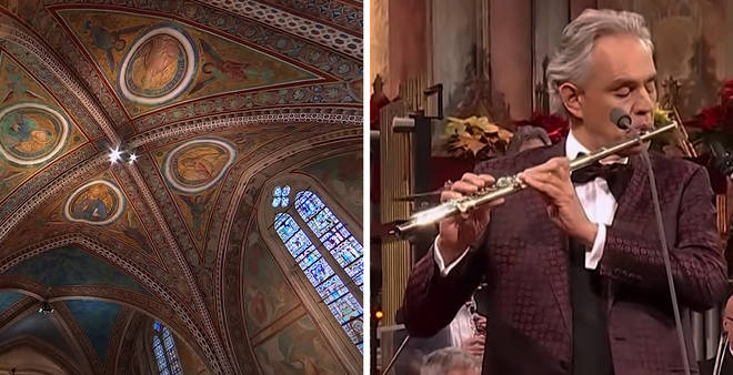Andrea Bocelli accompanies himself on the flute in this stunning performance of 'Dolce è Sentire'
