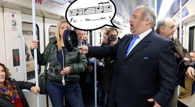Opera chorus bursts into a Verdi melody on Italian metro