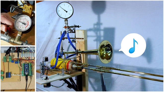 Robot trombone
