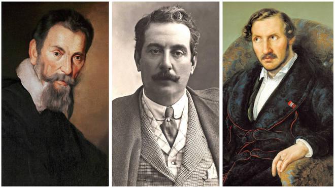 Great opera composers: Monteverdi, Puccini, Donizetti