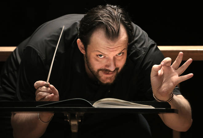 Andris Nelsons in rehearsal at Boston