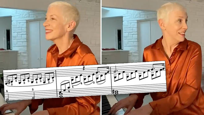 Annie Lennox plays Beethoven 'Moonlight' Sonata on her living room