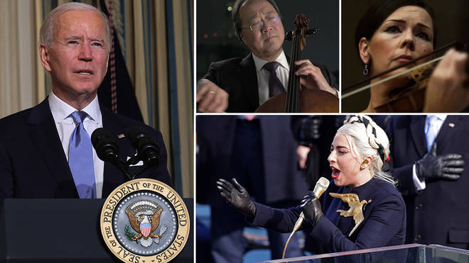 Biden inauguration music: watch Lady Gaga's national anthem and all other performances