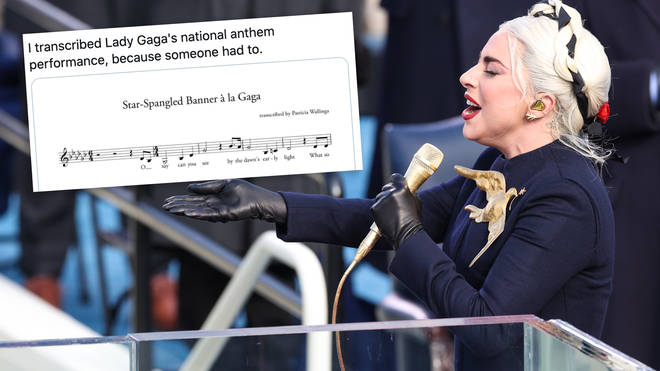Lady Gaga's national anthem inauguration performance has been transcribed by an A+ music geek