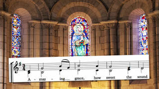 What are the lyrics to the traditional hymn 'Amazing Grace'?