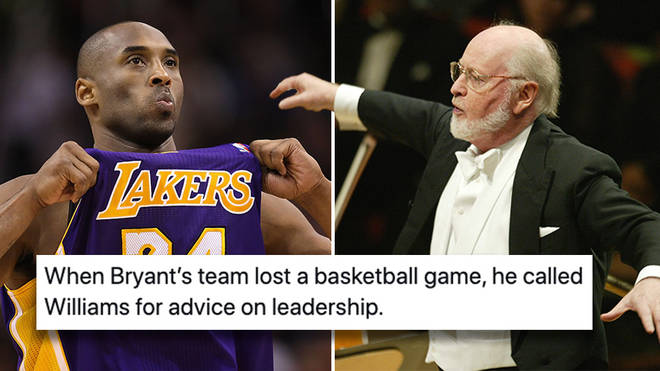 Basketball legend Kobe Bryant asked for leadership advice from film maestro John Williams