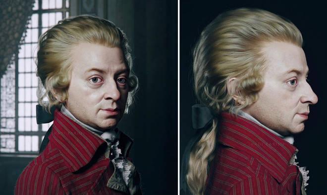 Mozart's face is revealed in lifelike 3-D artwork