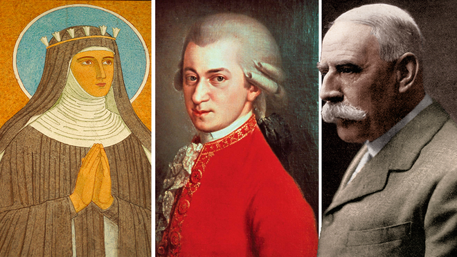 Best classical composers of all time: Hildegard von Bingen, Wolfgang Amadeus Mozart and Edward Elgar