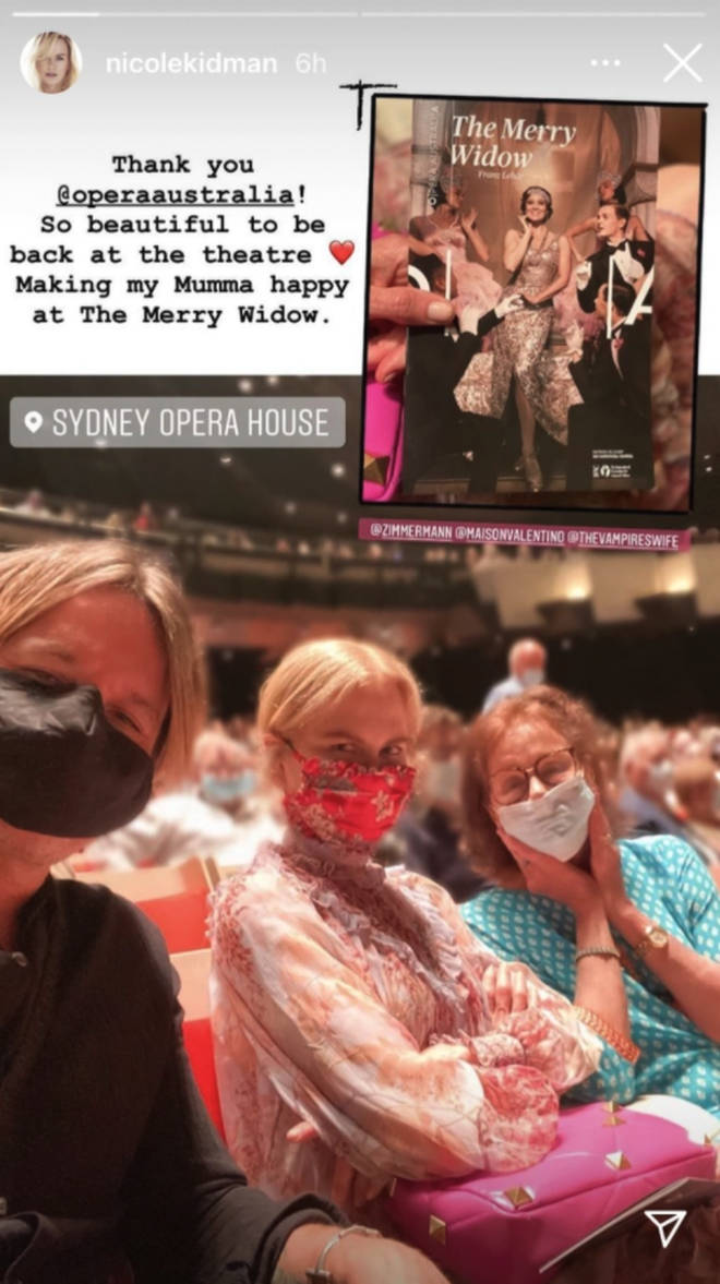 The Hollywood star enjoyed a night at the opera in Sydney