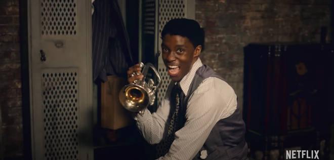 Chadwick Boseman stars as trumpet and cornet player Levee in Ma Rainey's Black Bottom on Netflix.