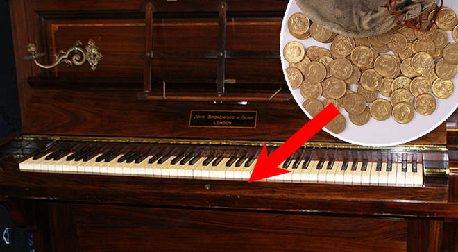 The time a hoard of gold coins were found in a Shropshire piano