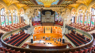 Historic Barcelona concert hall 'stoned' by anti-establishment groups
