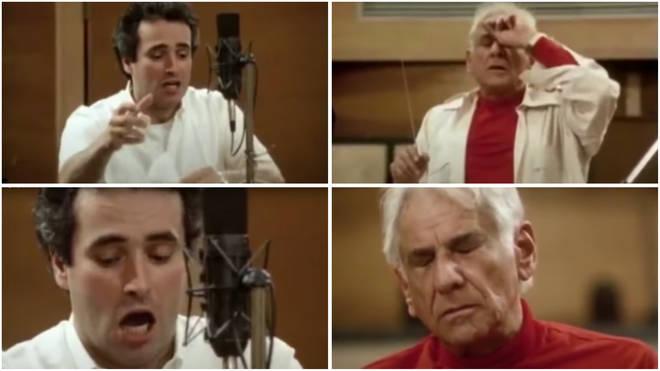 The moment composer Leonard Bernstein and tenor José Carreras clash in recording session