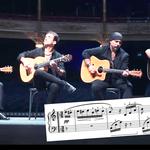 Beethoven's Für Elise, but it's for fiery flamenco guitar quartet
