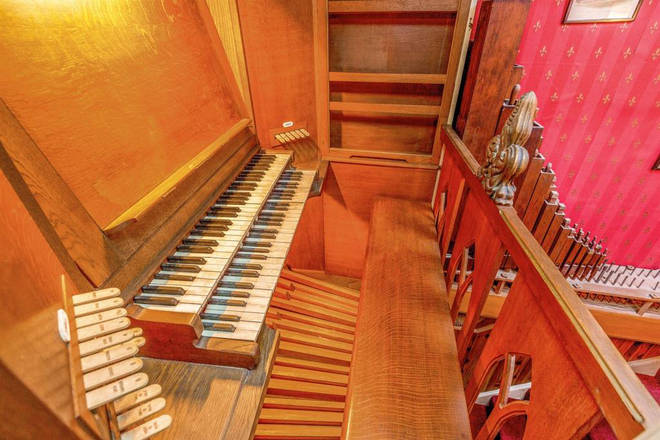 The organ belonged to a musician named Joan, whose husband built it for her