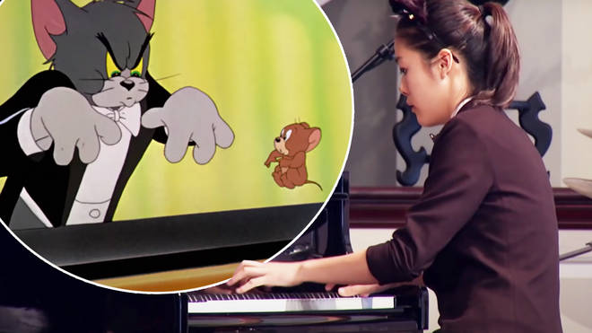 Virtuoso pianist perfectly syncs her playing with Tom and Jerry Cat Concerto scene