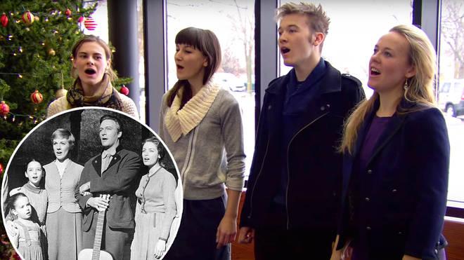 Real-life von Trapp great grandchildren sing a breathtaking impromptu 'Edelweiss'