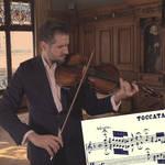 Violist Lech Antonio Uszynski plays Bach at Schlüsselzunft Basel