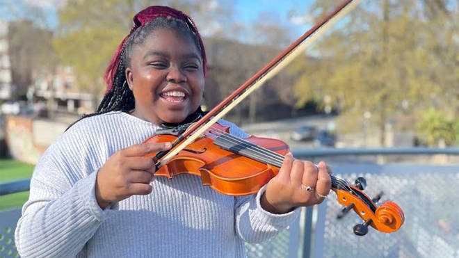 Young patient Kadina, 16, can't wait to play the violin
