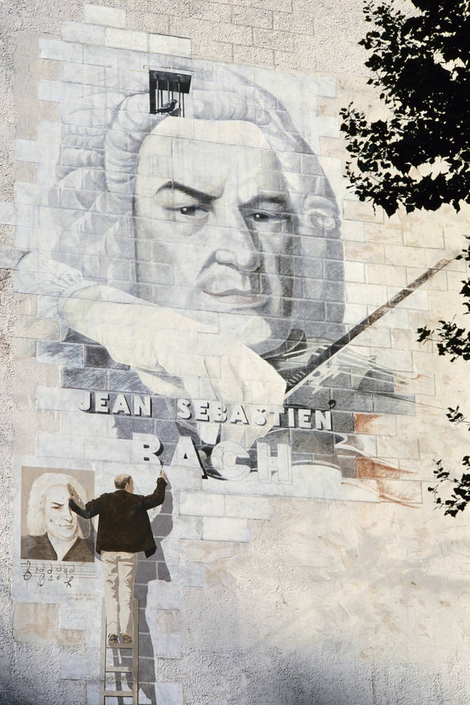 A Mural of Bach in Paris