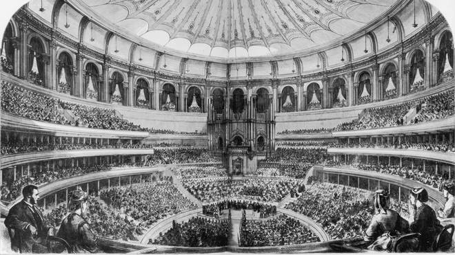 Royal Albert Hall is opened by Queen Victoria