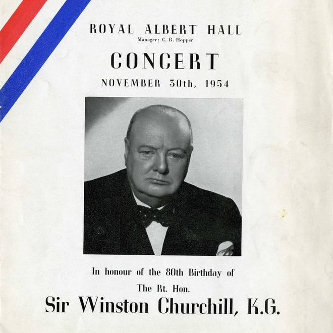 Sir Winston Churchill 80th birthday concert at the Royal Albert Hall.