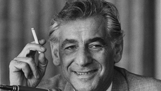 Composer and conductor Leonard Bernstein.