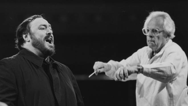 Luciano Pavarotti performs at the Royal Albert Hall in 1982, conducted by Kurt Herbert Adler.