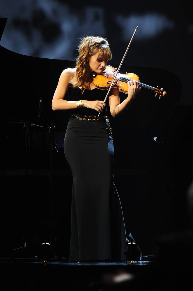 Violinist Nicola Benedetti performs at the Royal Albert Hall.