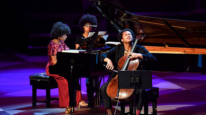 Isata and Sheku Kanneh-Mason are among star classical artists to perform in an empty auditorium during the coronavirus pandemic.