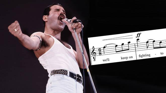 Freddie Mercury 'We Are The Champions' vocals