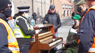 Busking pianist fined for breaching COVID-19 rules and 'causing a crowd' in York