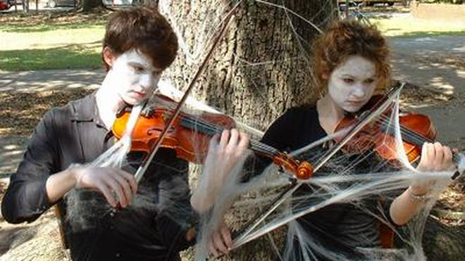 Spooky violins