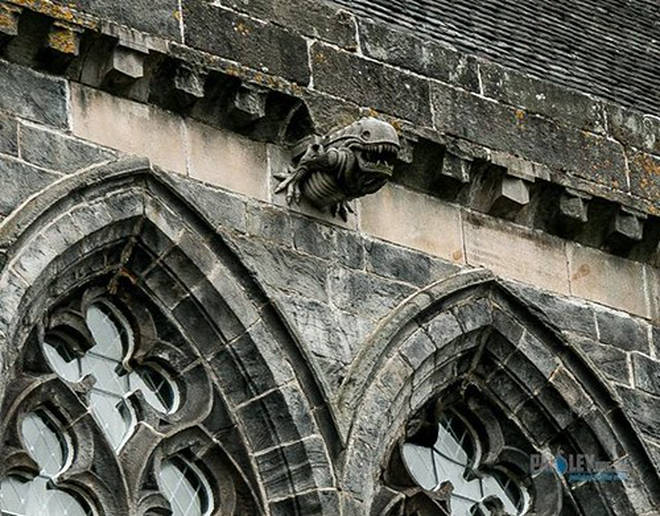 The gargoyle at Paisley Abbey