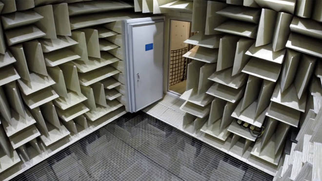 The anechoic chamber took two years to design