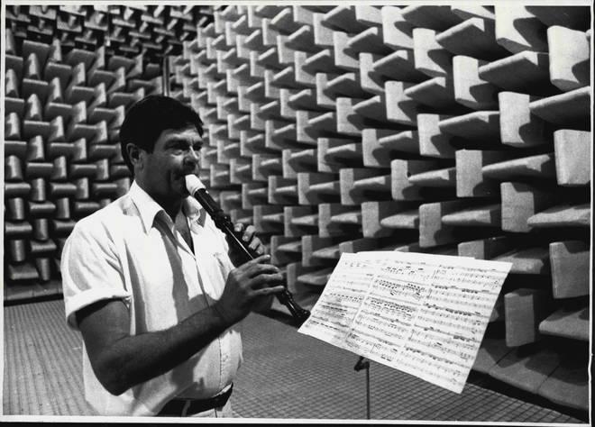 John Macrae plays recorder in Australia's quietest room