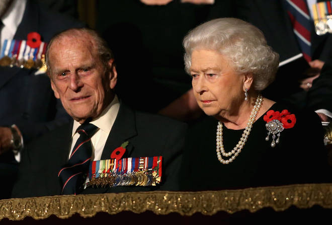 2015: The Duke of Edinburgh and Queen Elizabeth II attend the annual Royal British Legion Festival of Remembrance at the Royal Albert Hall