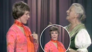 Real-life Maria von Trapp teaches Julie Andrews how to yodel