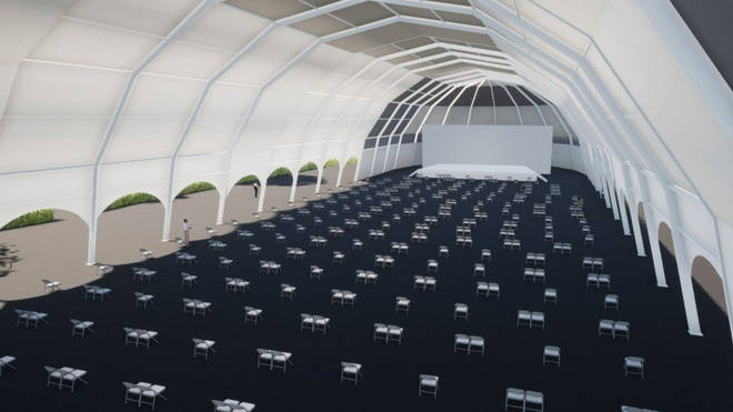 Edinburgh International Festival is set to go ahead this summer, and will take place in large outdoor marquees made for the three-week event.