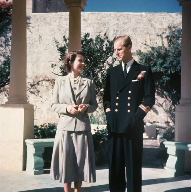 Princess Elizabeth and her husband Prince Philip on their honeymoon in Malta
