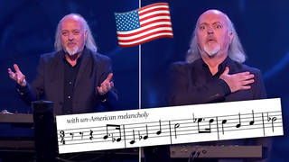 Bill Bailey plays The Star Spangled-Banner in a minor key