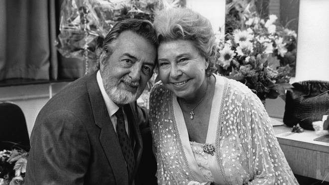 Christa Ludwig pictured with her husband, the French theatre actor Paul-Emile Deiber, who died in 2011.
