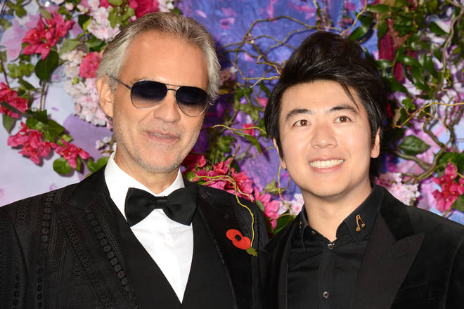 Andrea Bocelli and Lang Lang attended the London premiere