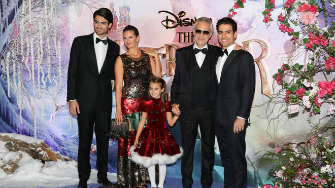 The Bocellis made the premiere a family outing
